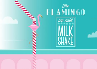 The FLAMINGO MILK SHAKE